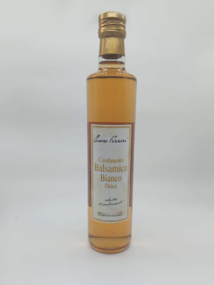 CONDIMENTO BALSAMICO BIANCO DOLCE, 500 ml.