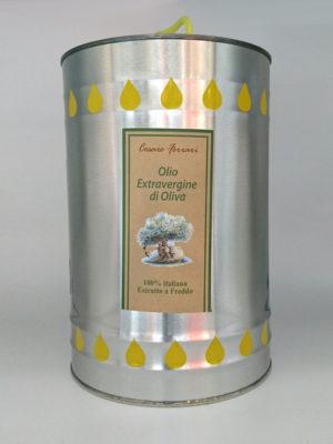 OLIO EXTRAVERGINE DI OLIVA CESARE FERRARI, 5 Lt.